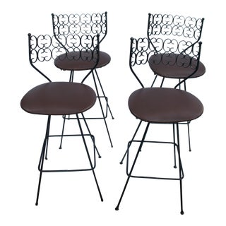 Arthur Umanoff Grenada Collection Bar Stools - Set of 4 For Sale