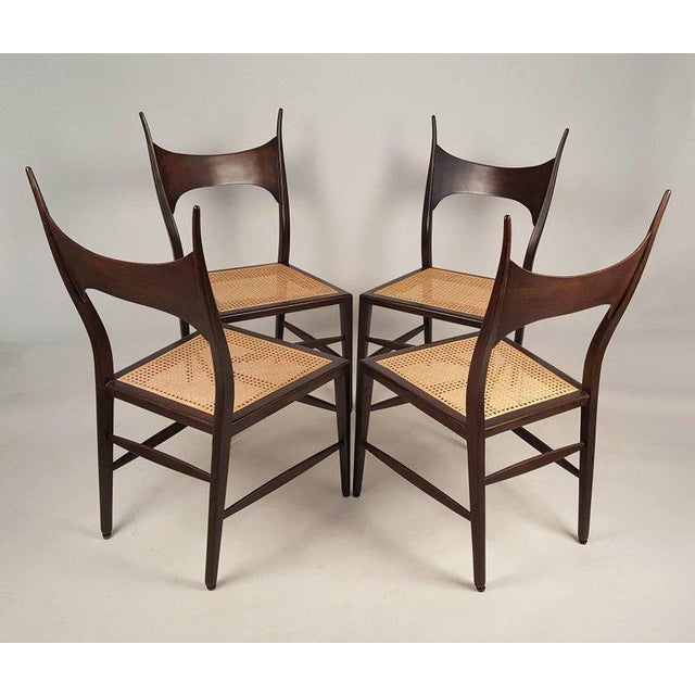 Rare early set of eight Edward Wormley model 5580 dining chairs for Dunbar. Unquestionably the sexiest dining chair that...