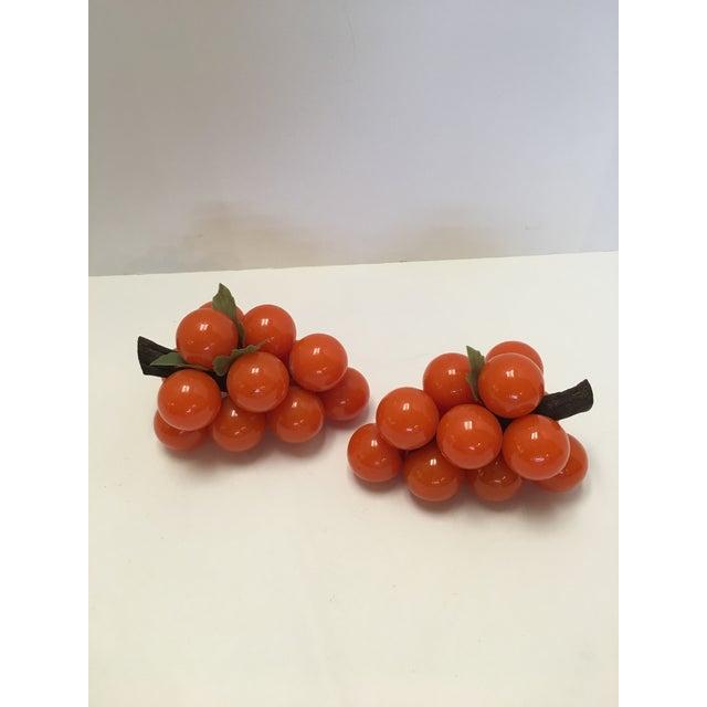 Mid-Century Orange Lucite Grapes - A Pair - Image 2 of 11
