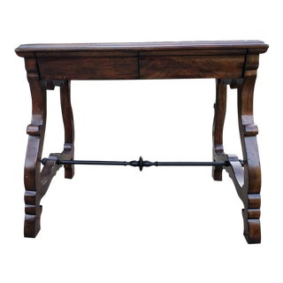Traditional Port Eliot 2-Drawer Wooden Side Table For Sale