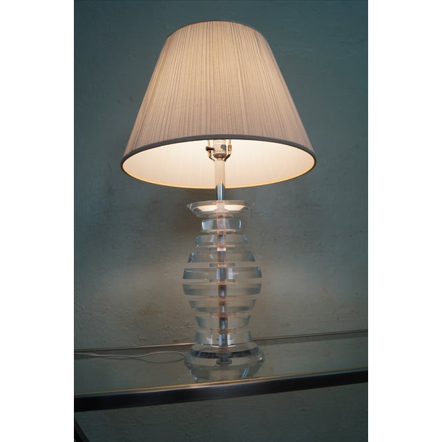 Mid-Century Modern Lucite Table Lamp by George Bullio AGE/COUNTRY OF ORIGIN: Approx 50 years, America DETAILS/DESCRIPTION:...