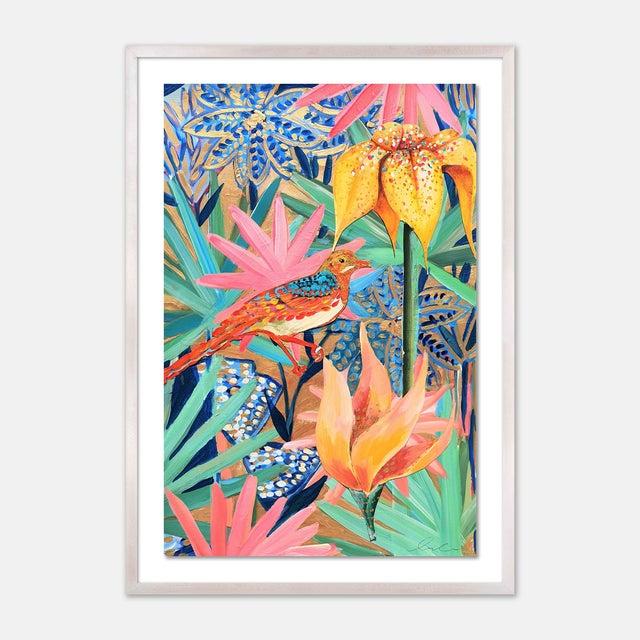 Zanzabar Collage 2 by Lulu DK in White Wash Framed Paper, Medium Art Print For Sale - Image 4 of 4