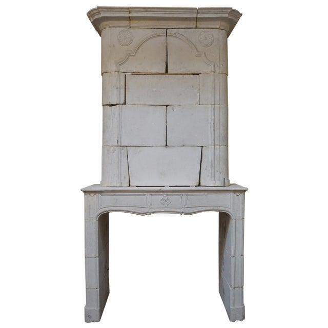 Stone 18th Century Limestone Mantel with Trumeau For Sale - Image 7 of 7