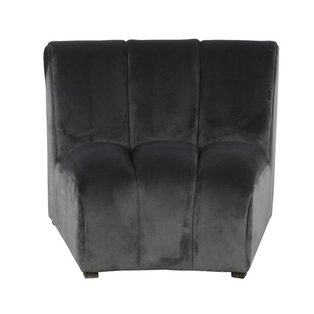 Slate Gray Centipede Sofa For Sale - Image 4 of 11
