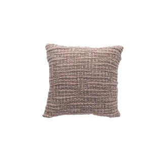 Square Light Pink Pillow With Silk For Sale