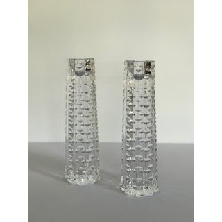 Tapered Crystal Candlesticks - a Pair Preview