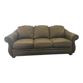 Italian Full Hide Nubuck Leather Couch For Sale