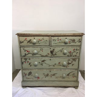 1800's English Pine Chinoiserie Green Chest Preview