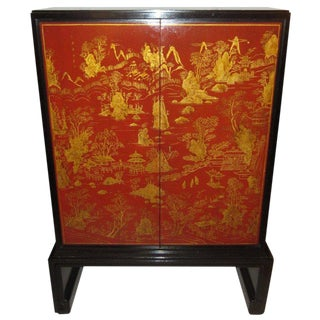 Exquisite Lacquered Chinoiserie Cabinet by Nordiska For Sale