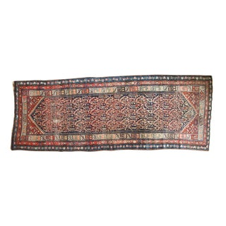 "Vintage Malayer Rug Runner - 3'10"" x 10'1"" For Sale"