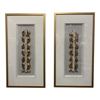 Framed Antique European Fragments - A Pair For Sale