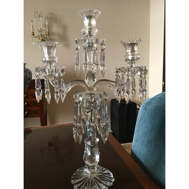 Antique Crystal Candelabras - A Pair - Image 5 of 5