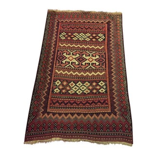 Shahsavan Kilim Geometric Rug - 4′7″ × 7′4″ For Sale