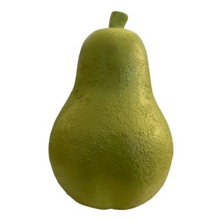 Oversized Pottery Pear Sculpture For Sale