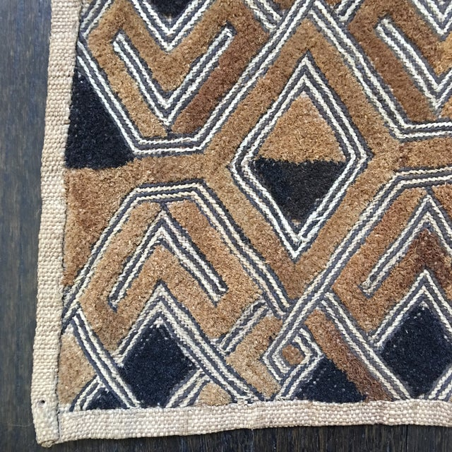 "Vintage Kuba Textile - 1'9"" x 1'7"" For Sale - Image 10 of 11"