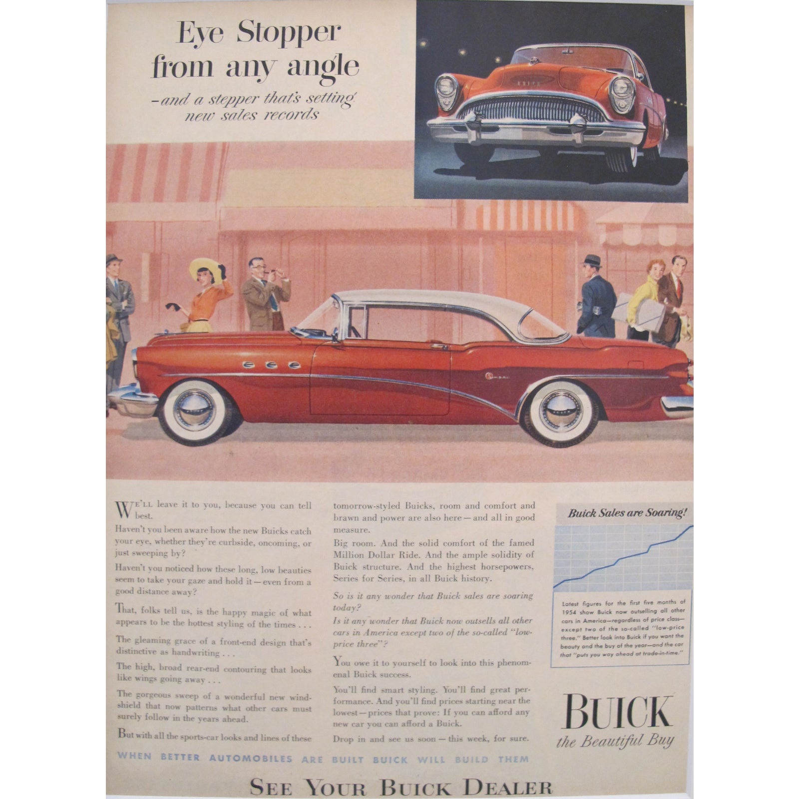 Matted 1950s Buick Car Ad Chairish And 1960s Riviera