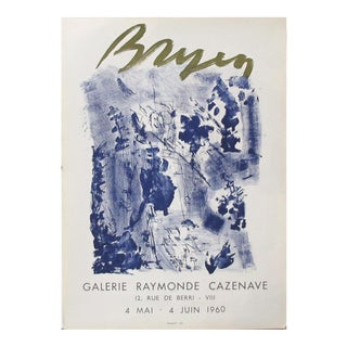 1960 Original French Exhibition Poster - Camille Bryen, Galerie Raymonde Cazenave For Sale