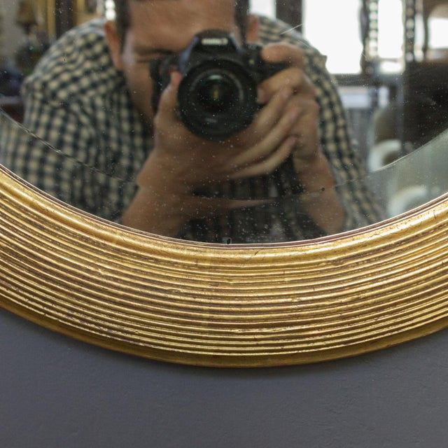 Gold French 19th Century Oval Mirror with Gilt Frame For Sale - Image 8 of 11