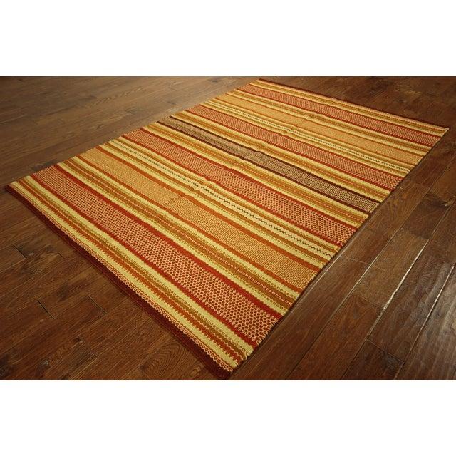"Multicolor Modern Kilim Rug - 5'7"" x 8' - Image 3 of 6"