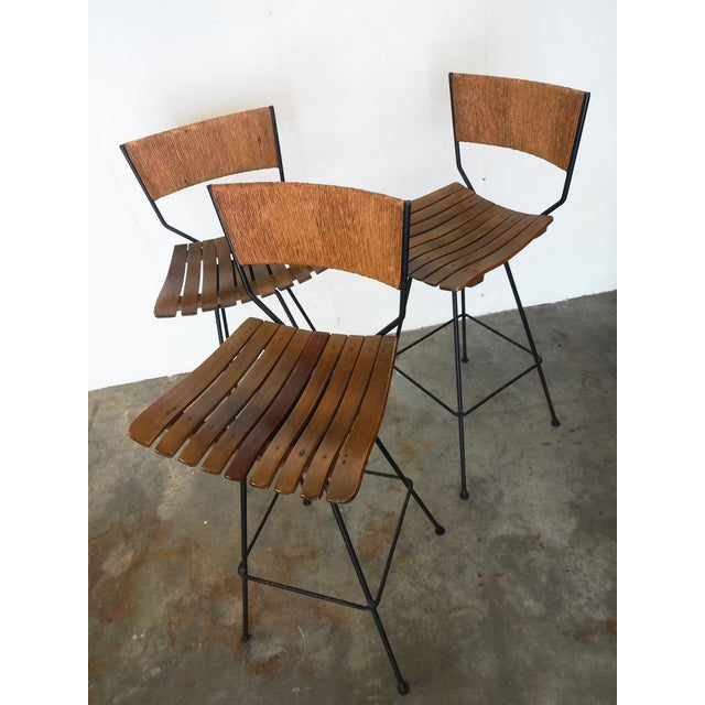 Arthur Umanoff Mid-Century Bar Stools - Set of 3 - Image 7 of 10
