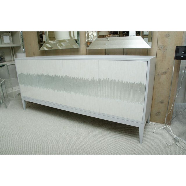 Contemporary Mosaic Glass 4 Door Buffet For Sale - Image 10 of 10