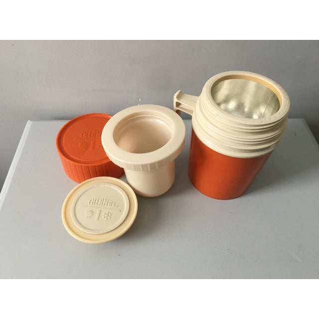 Mid-Century Modern Orange Thermos Brand Kitchen / Bar Accent For Sale In Los Angeles - Image 6 of 10