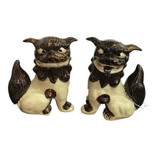 Vintage Japanese Foo Dog Figurines - a Pair For Sale