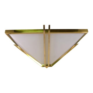 1990s Baldinger Architectural Lighting Pyramid Shaped Sconce For Sale