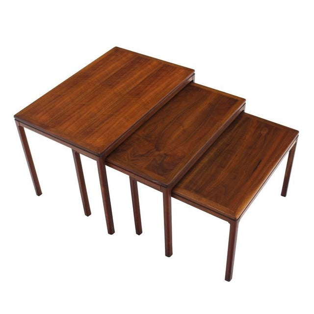 DUX Set of Three Teak Nesting Tables by Dux For Sale - Image 4 of 8