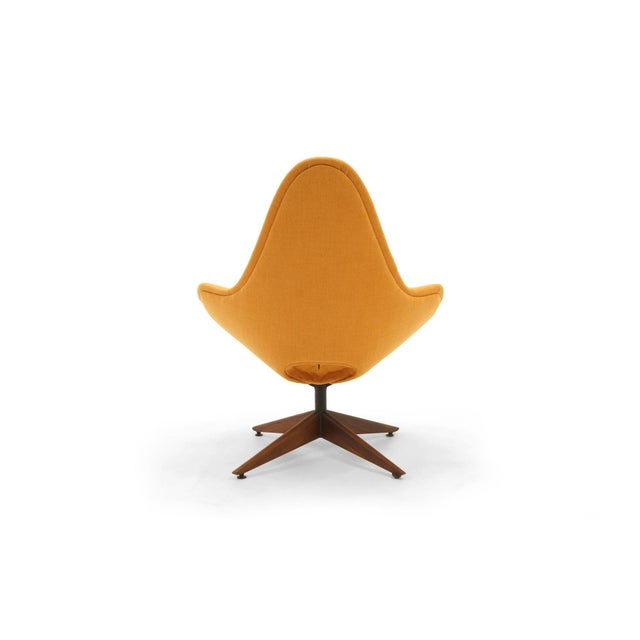 Orange Adrian Pearsall Swivel Lounge Chair, Completely Restored, Very Rare For Sale - Image 8 of 11