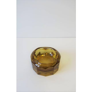 Modern Gold Amber Art Glass Bowl or Ashtray Preview