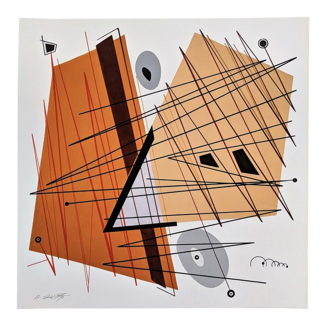 """Atsuko Okamoto Abstract Serigraph A. P. """"Convergence 2"""" Signed For Sale"""