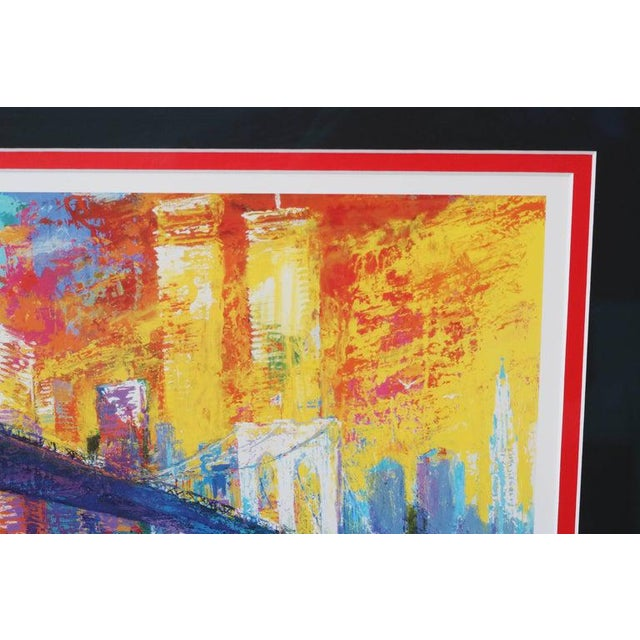 1995 Brooklyn Bridge Lithograph Ltd Ed Signed by American Artist LeRoy Neiman For Sale In West Palm - Image 6 of 11