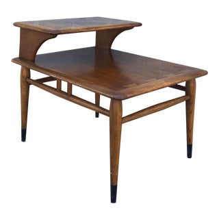 Vintage Mid Century Modern Lane Acclaim Dovetailed Step Table For Sale