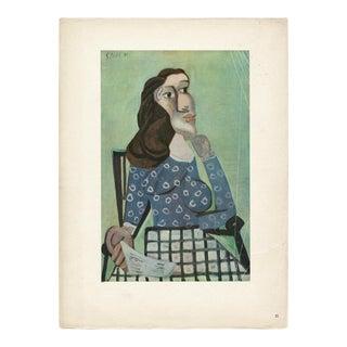 "1943 Picasso Original ""Femme Au Corsage Bleu"" Lithograph For Sale"