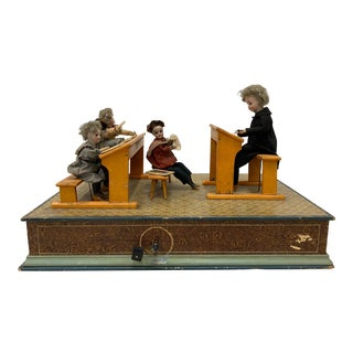 "19th Century ""Classroom"" Automaton g.a. Schwarz, Pa C.1880 For Sale"