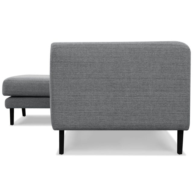 Sarreid LTD Bella Donna Gray Sectional Chaise - Image 5 of 6