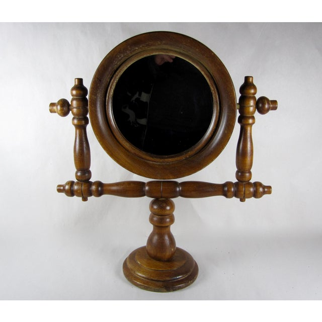 19th-C. French Gentleman's Barber Shop Shaving Mirror Stand - Image 2 of 8