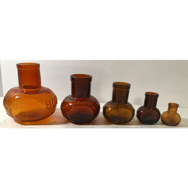 Antique Brown Bovril Bottles - Set of 5 For Sale - Image 4 of 9