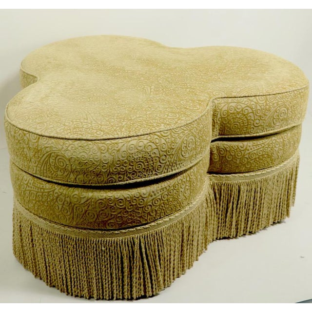 Fringed Cloverleaf Ottoman by Hickory Furniture For Sale - Image 12 of 12