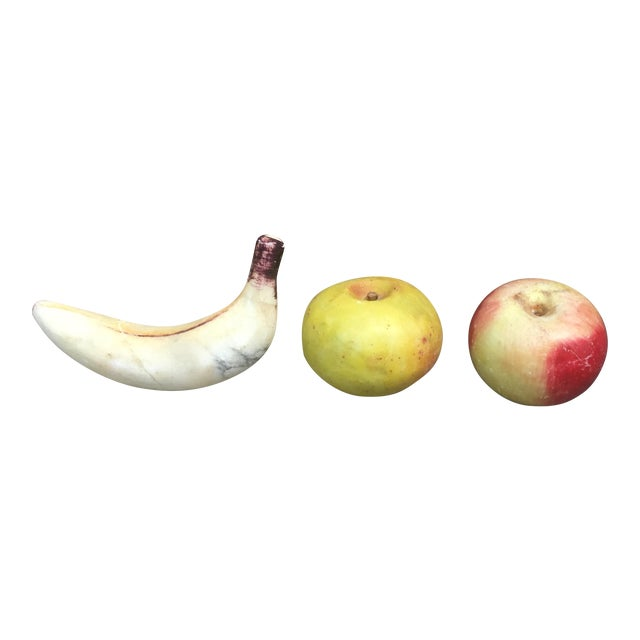 Vintage Italian Alabaster Fruit - Set of 3 - Image 1 of 5