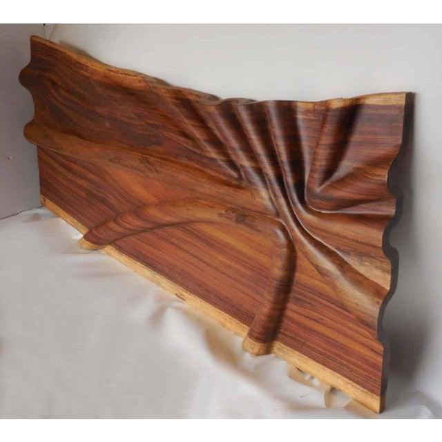 Modern Live Edge Undulating Wall Sculpture or Headboard For Sale - Image 10 of 10
