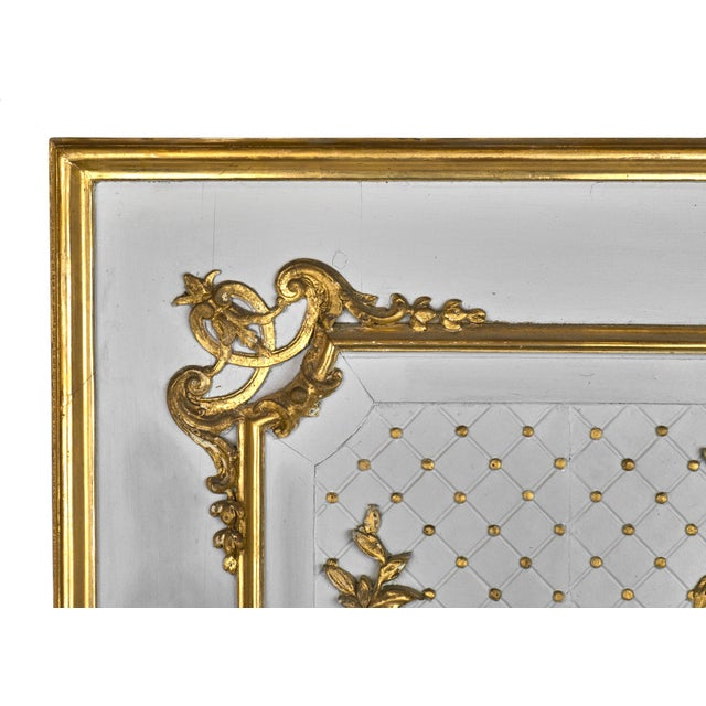 19th Century Louis XVI Gold Leaf Trumeau Mirror For Sale In Austin - Image 6 of 9