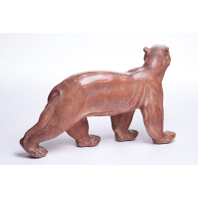 Ceramic Polar Bear Sculpture Attributed to Atelier Primavera For Sale - Image 7 of 10