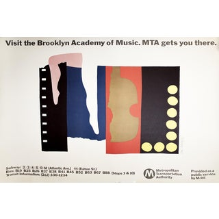 Ivan Chermayeff , Mta Visit the Brooklyn Academy of Music, Offset Lithograph For Sale