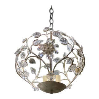 1930's French Silver Light Fixture For Sale