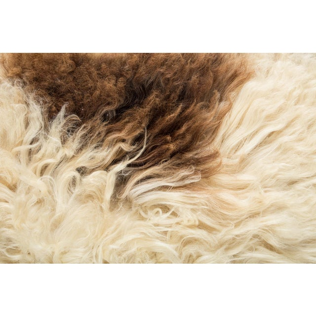 "Contemporary Long Wool Sheepskin Pelt/Handmade Rug - 2'0""x3'2"" For Sale - Image 4 of 6"