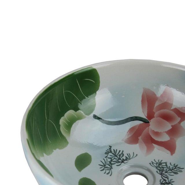 Asian Pasargad DC Modern Multi-Color Motif Sink Bowl For Sale - Image 3 of 6