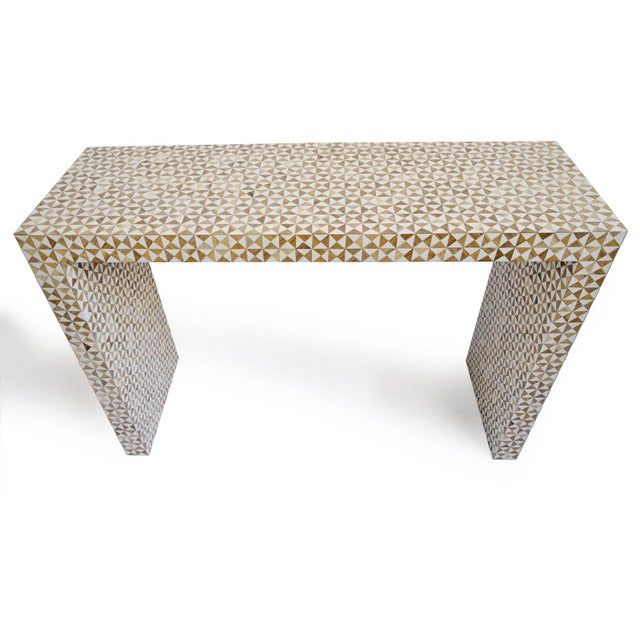 Inlay Modern Geometric Console For Sale - Image 4 of 6