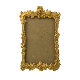 Late 19th Century Vintage Victorian Rococo Revival Gilt Brass Picture Frame For Sale
